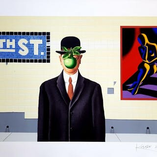 Mark Kostabi - Omaggio a Magritte