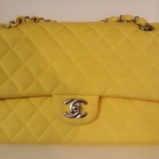 Chanel - Jersey Quilted Timeless Double Flap Shoulder bag