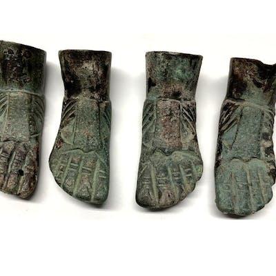 Ancient Roman Bronze Foots - (4)