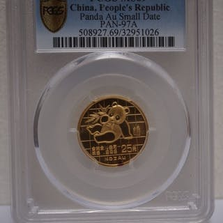 China - 25 Yuan 1989 Panda MS69 PCGS - Gold