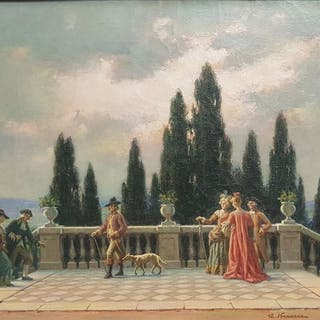 Angelo Vernazza(1869-1937) - Giardini liguri
