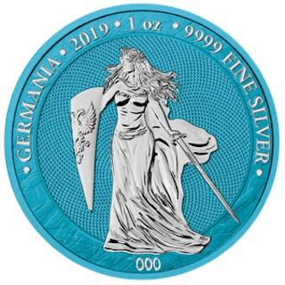 Germany - 5 Mark 2019 Germania - Space Blue (No 454) 1 Oz - Silver