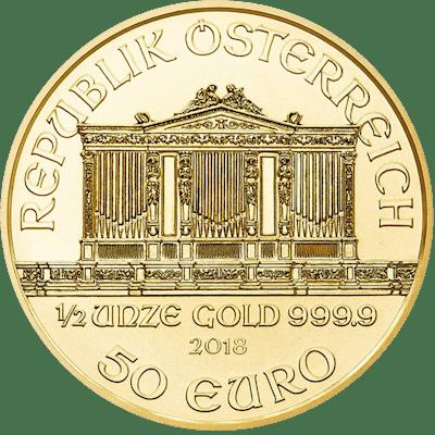 Autriche - 50 Euro 2018 Wiener Philharmoniker - 1/2 oz - Or