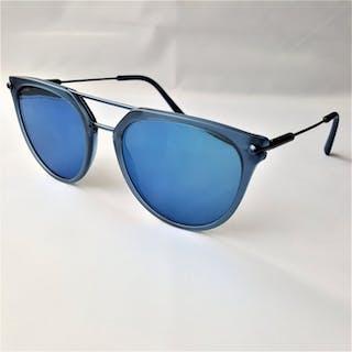 Bulgari - Designer Matte Blue Metal - New - Made in Italy - 2019 Sonnenbrillen