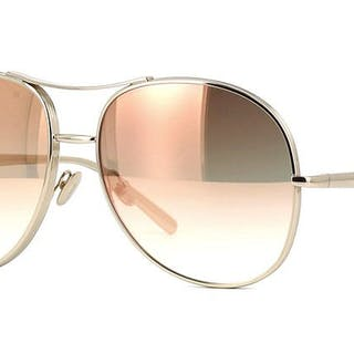 Chloé - Gold Peach Special Metal Aviator - New - Made in Italy - 2019 Sunglasses