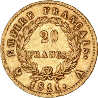 France - 20 Francs 1811-A Napoleon Empereur - Gold