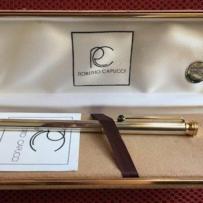 ROBERTO CAPUCCI Full Silver 925%-Gold laminated22K - Penna a sfera