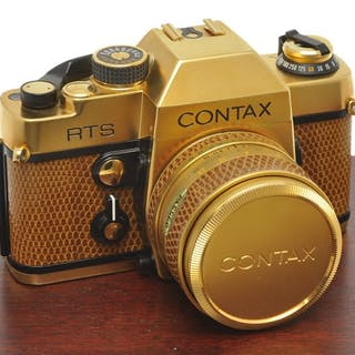 Contax , rare RTS Gold with 50/1.4 Planar Gold, mint