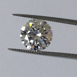Diamond - 2.28 ct - Brilliant - F - LC (loupe clean)