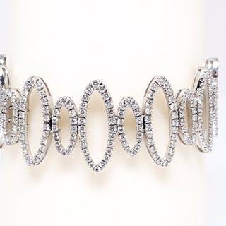 18 kt. White gold - Bracelet - 10.50 ct Diamond