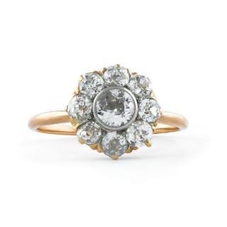 Antique (End of 19th Century) - 18 kt. Yellow gold - Ring Diamond