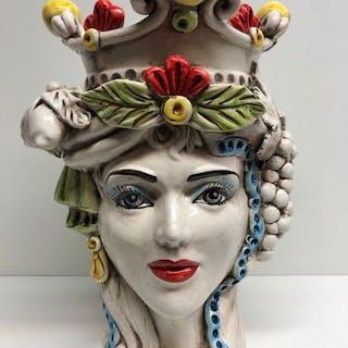 Caltagirone - Oggetto in ceramica, Vaso - Ceramica