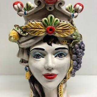 Caltagirone - Ceramic object, Vase - Ceramic