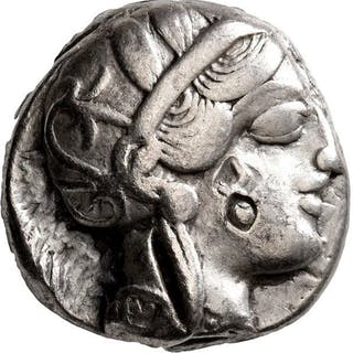 Greece (ancient) - Attica, Athens. AR Tetradrachm, circa 420s-404 BC - Silver
