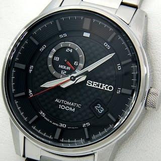 "Seiko - - Automatic 24 Jewels 100M ""Carbon Fiber dial Style"" - - Men - 2018"