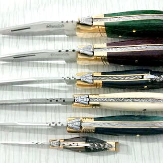 Frankreich - A collection of 6 Laguiole knives