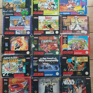 Super Nintendo Snes Lot of 15 Boxed Games 16-BIT - Other (15) - In original box