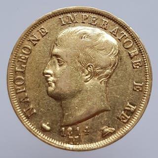 Italy - 40 Lire 1814-M Napoleon - Gold