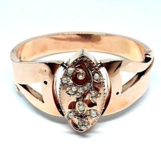 14 carati Oro rosa - Bracciale art Dèco Perle varie