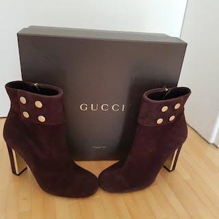 Gucci - Gucci Audrey Suede Ankle BootsAnkle boots - Size: IT 36.5