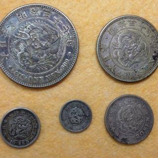 Japan - Yen & Sen - Meiji era (1877-1906) - Silver