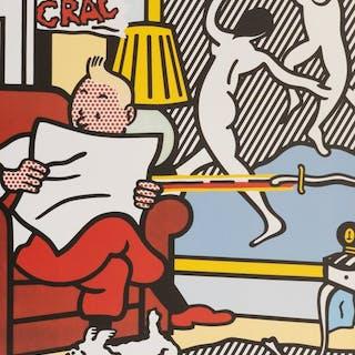 Roy Lichtenstein - Tintin Reading