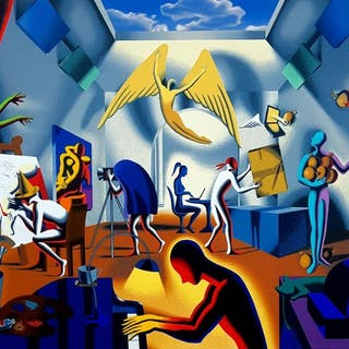 Mark Kostabi - Studio dell'Artista