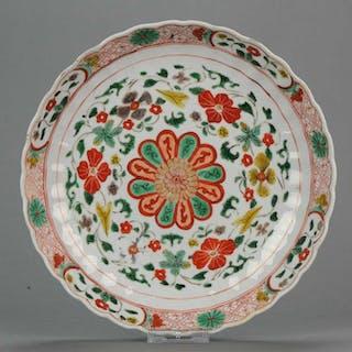 Plate - Famille verte - Porcelain - Rare SE Asian...