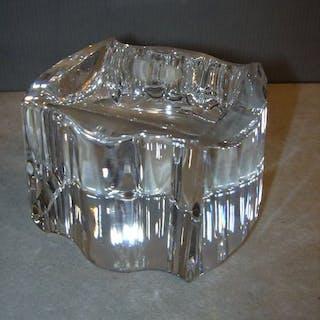 Posacenere in cristallo Swarovski argento - Cristallo