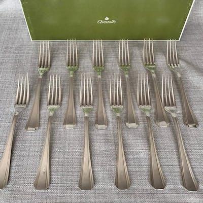 Fourchettes à entremets  (12) - Plaqué argent...