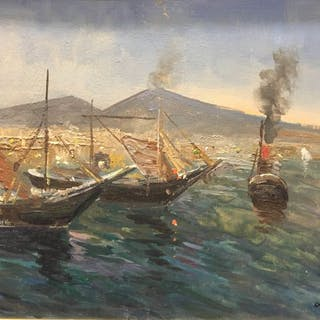 Francesco Di Marino ( 1892-1954 ) - Marina di Napoli