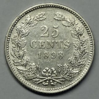 The Netherlands - 25 Cent 1898 Wilhelmina - Silver