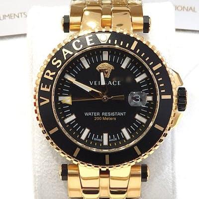 Versace - V-RACE - IP Gold 18K - Swiss Made - VEAK006/18...
