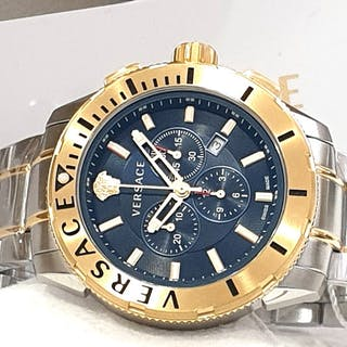 Versace - XXL Casual Chronograph Swiss Made - Blue Dial...