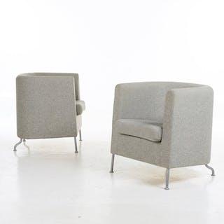 Jacob Zeilon - Klaessons/Materia - Set of 2 'Club' armchairs