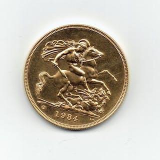 United Kingdom - 5 Pound 1984 Elizabeth II - Gold