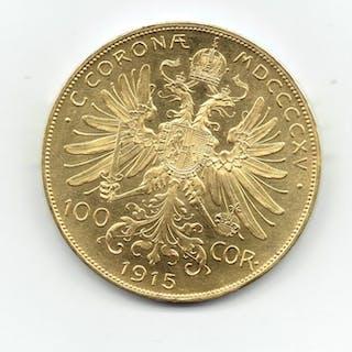 Austria - 100 Kronen 1915 (Restrike) - Franz Joseph I - Oro