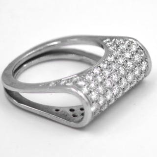 18 kt. White gold - Ring - 2.00 ct Diamond