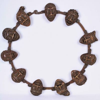 Necklace - Bronze - Bamoun - Cameroon