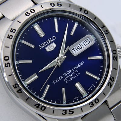 "Seiko - Unisex Automatic 21 Jewels ""Blue"" - ""NO RESERVE PRICE"" - Unisex - 2018"