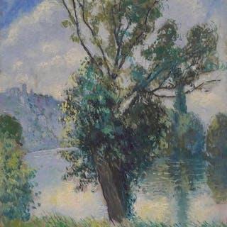 Georges Manzana-Pissarro (1871-1961) - Les Andelys, la Seine et Château Gaillard