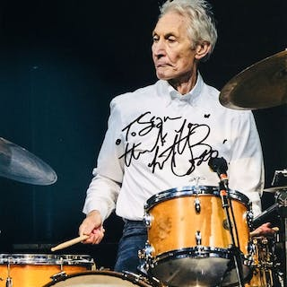 Charlie Watts ( Rolling Stones ) - Authentic Signed...