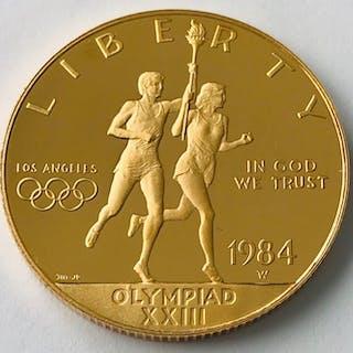 United States - 10 Dollars 1984 - Olympia- Gold