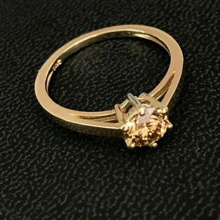14 kt. Yellow gold - Ring Diamond