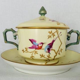Art Nouveau bonbonnière vers 1900, France - Porcelaine