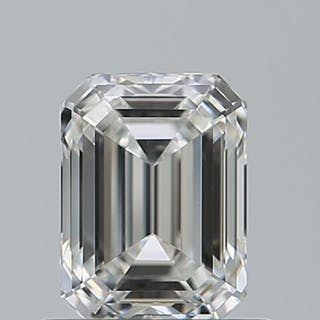 1 pcs Diamant - 0.41 ct - Smaragd - G - IF (makellos)