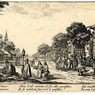 after Jacques Callot - Lesmendiants et les mourants (The beggars and the dying)