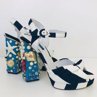 Dolce & Gabbana - High Heel Sandalias - Talla: EUR 38 UK 5 US 8