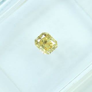 Diamond - 0.25 ct - Radiant - Natural Fancy Yellow - VS2
