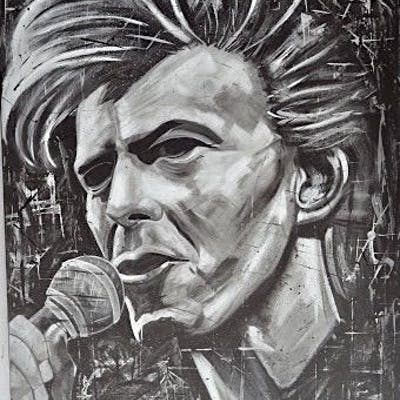 Vincent Mink - Icon David Bowie - Acryl on canvas on...